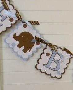 Elephant Baby Shower Banner by PocketFullofGlitter on Etsy, $36.00