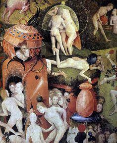 History of Art: Renaissance - Hieronymus Bosch Hieronymus Bosch Paintings, Art Roman, Arte Tribal, Garden Of Earthly Delights, Renaissance Paintings, Dutch Artists, Medieval Art, Fantastic Art, Old Art