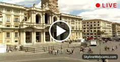 View on the facade of the Basilica of Santa Maria Maggiore, one of the four papal basilicas of #Rome. #Travel #webcam #Italy #Italia