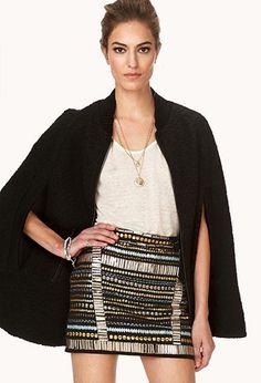 On The Edge Beaded Mini Skirt | FOREVER21 - 2000125640 #ForeverHoliday