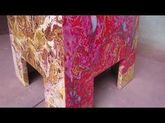 Efecto Marmol En Agua Facil Swirl Decoracion - YouTube