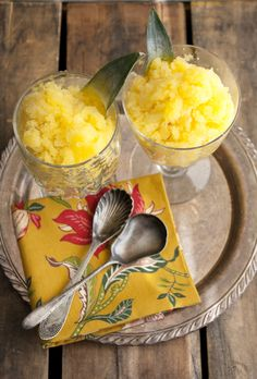 Try this great Pineapple and Mango Granita from MuyBuenoCookbook.com