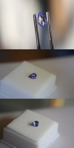 Tanzanite 4195: .56Ct Natural Tanzanite 7X5mm Pear Shape BUY IT NOW ONLY: $40.5