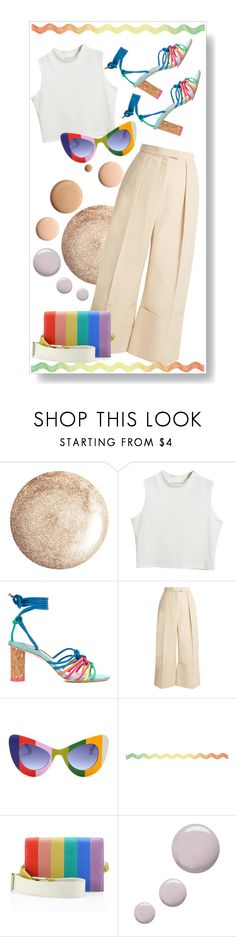 """""""Rainbow"""" by semooon ❤ liked on Polyvore featuring Chicnova Fashion, Sophia Webster, Delpozo, Alice + Olivia, CC and Topshop"""