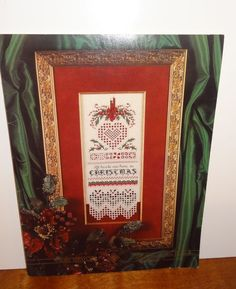 Cross Stitch Patterns ALL HEARTS HOME CHRISTMAS Emie Bishop Hardanger Booklet  #CrossNPatch #CrossStitchHardanger