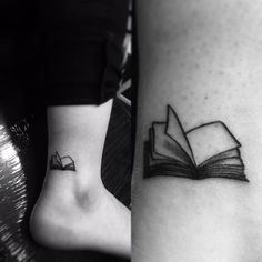 Small Book Tattoo Near Ankle