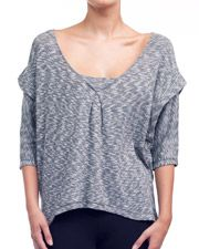 alo active wear 3/4 SLEEVE INSET PULLOVER cute for the studio!