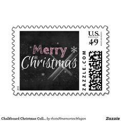 Chalkboard Christmas Collection Stamps