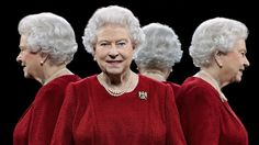The latest portraits released of the queen show her four sides.