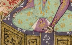 """Yusuf Interprets Zulaykha's Dream,"""" detail, Iran, in the Bodleian Iran, Henna, Period, Medieval, Detail, Mid Century, Hennas, Middle Ages"""