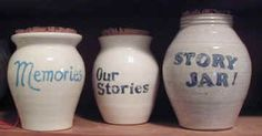 A story jar can be left on the counter where it is easy to see and add to.  Unlike baby books and diaries, it doesn't get buried and forgotten.  In my story jar there are slips of paper with reminders of events that I wouldn't want to forget.