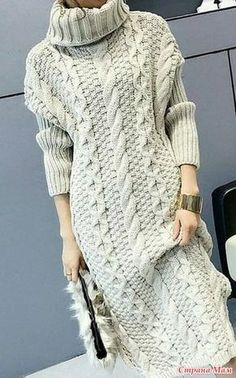 32 New Ideas For Dress Pattern Winter Fashion Hipster Fashion, Knit Fashion, Sweater Fashion, Trendy Fashion, Fashion Art, Knit Skirt, Knit Dress, Trendy Dresses, Fashion Dresses