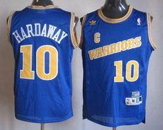 Golden State Warriors #10 Tim Hardaway Blue Throwback Stitched NBA Jersey