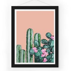 Fantastical Botanical Cactus Print  - Me and My Trend