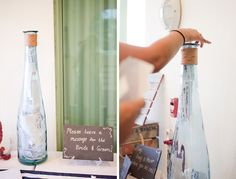 message in a bottle 'guest book', photo by capturedbyjen.com