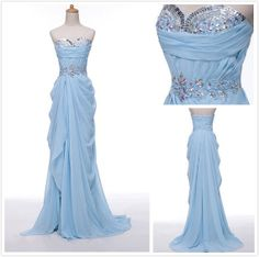 Sweetheart Long Prom Dress Long Chiffon Dresses by chiffondresses, $130.00