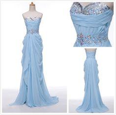 Sweetheart Long Prom Dress Long Chiffon Dresses by chiffondresses, $130.00