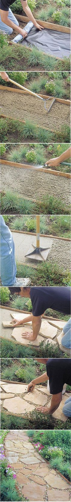 Step 1Install benderboard edging first, then put down landscape fabric (available at nurseries) to prevent weeds. Secure fabric edges under the benderboard #landscapeedging