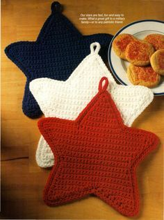 Latest Absolutely Free how to crochet pot holders Thoughts Stern-Topflappen häkeln Stern-Topflappen häkeln Crochet Kitchen, Crochet Home, Crochet Gifts, Free Crochet, Knit Crochet, Crochet Santa, Crochet Potholder Patterns, Crochet Dishcloths, Knitting Projects