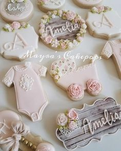 """And she loved a little girl so very, very much, even more than she loved herself."" #babyshower #babygirl #customdesert #customsweets #customcookies #decoratedsweets #decoratedcookies #libaker #nybaker #mayrascakepops #sweetsforeveryoccasion"