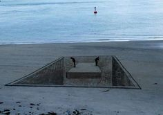 Amazing 3D Sand Drawings by Jamie Harkins, Constanza Nightingale, and David Rendu Give Beach a New Dimension - My Modern Met