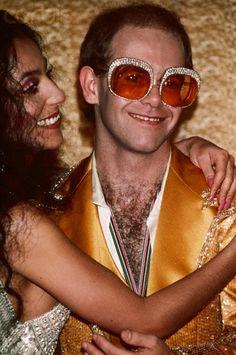 Cher, Elton John icons