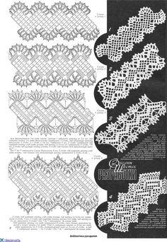 Duplet 122 p8 - Oblique filet crochet lace tape / strip ~~ Журнал: ДУПЛЕТ №122