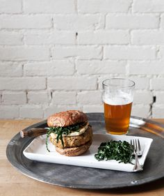 Chickpea Veggie Burger with Fried Halloumi -a Better Happier St. Sebastian