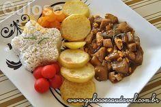 #BomDia! A sugestão para o #almoço é esta delicia de Berinjela ao Molho Madeira, é prática e certamente vai agradar! #Receita aqui: http://www.gulosoesaudavel.com.br/2012/09/24/berinjela-molho-madeira/
