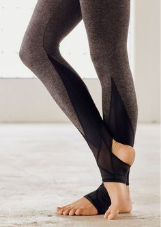 645c3e7493ef55 Stretchy Skinny Sports Leggings with Cross Foot Straps - OASAP.com ...