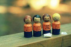 tyson, percy jackson, grover, and annabeth  peg doll. Nggawww... ♥