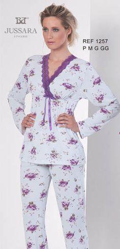 Pijama feminino Bordados Jussara 1257