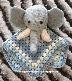 FREE Crochet Pattern - elephant lovey crochet blanket is there- link for elephant doesn't show elephant in pic-jm