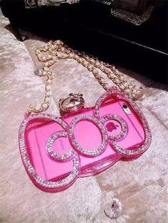 Hello Kitty Schleife transperante Handyhülle mit Perlen Ketten für iphone 6 und iphone 6 Plus - Prima-Module.Com