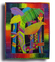 IMG_8330 by Melody Johnson Quilts, via Flickr -- Not sure if this is a mini quilt, but it looks small.