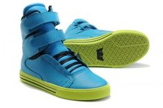 super popular f8745 57d61 Supra TK Society Girls hip hop shoes Blue Leather Light Green - Justin  Bieber Shoes For Girls