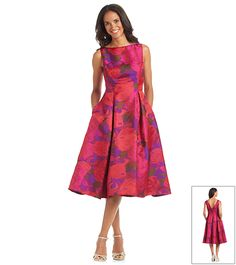 Adrianna Papell® Floral Tea Length Dress | Younkers