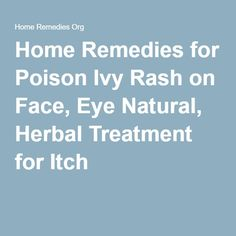 20 Best Remedies For Poison Ivy Images Cure For Poison Ivy Home