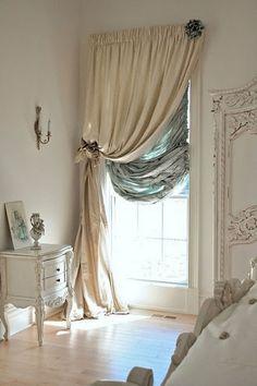 love this curtain treatment