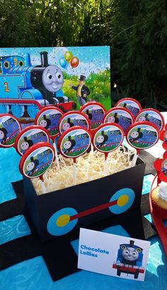 Thomas the Tank Engine Chocolate Lollies in Wagon Box
