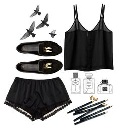 """""""bed"""" by aga2406 ❤ liked on Polyvore featuring Monki, Giuseppe Zanotti, Bobbi Brown Cosmetics and STELLA McCARTNEY"""