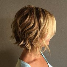 23 short wavy bob hairstyles - The world is changing rapidly when it comes to hairstyles. There was a time when short hairstyles w - Short Curly Hairstyles For Women, Blonde Bob Hairstyles, Short Bob Haircuts, Hairstyles Haircuts, Haircut Short, Trendy Haircuts, Medium Hairstyles, Swing Bob Haircut, Braided Hairstyles