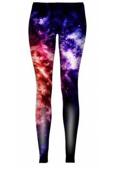 "$38 If you like the visions from abstract paintings in your wardrobe, then the ""Abstraction"" leggings are definitely for you. These fantasy colors will cause some commotion. Rest assured though, the colorful clouds of the ""Abstraction"" will go great with a lot of your clothes."