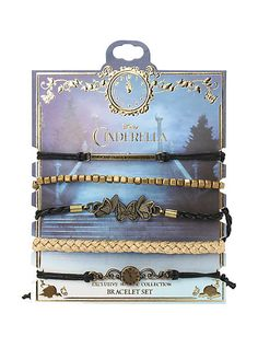 Disney Cinderella Black & Gold Bracelet 5 Pack | Hot Topic