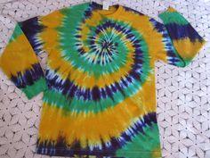MARDI GRAS tie dye shirt