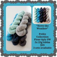 Hows the Weather Petite Collection Ribbon Yarn, Red Riding Hood, Teal, Blue, Yarns, Color Inspiration, Crochet Projects, Sticks, Black And Grey