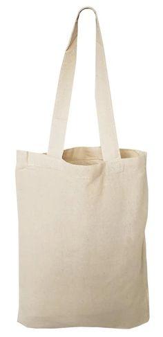 TOTE BAG CANVAS BAG FOR LIFE PLAIN WHITE