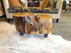 Bildresultat för tree trunk stone top table