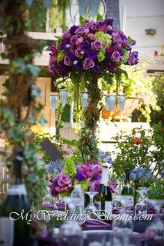 Reception, Flowers & Decor, pink, purple, green, Flowers, My wedding blooms