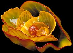 Dale Chihuly  Cadmium Yellow Seaform Set